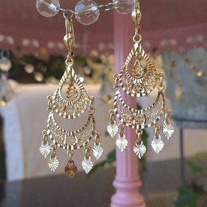 14kt gold earrings. Made in Italy